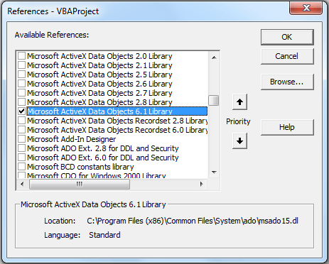 ADODB_export excel data to access