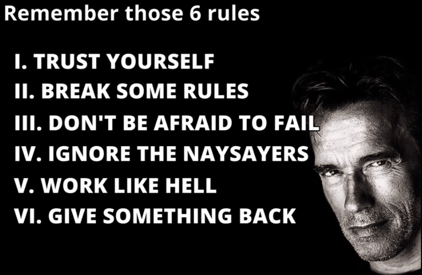6 Rules to success
