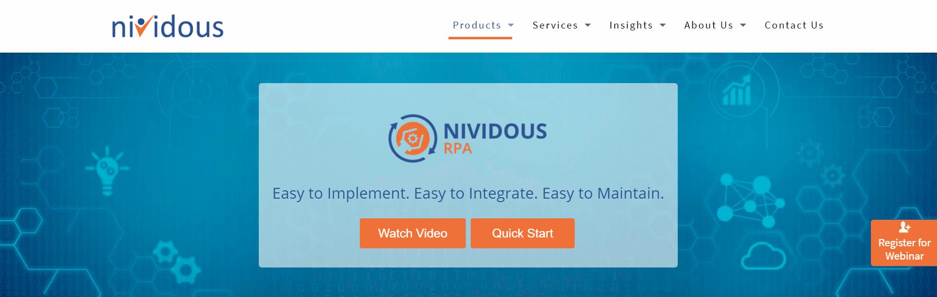 nividous rpa tool