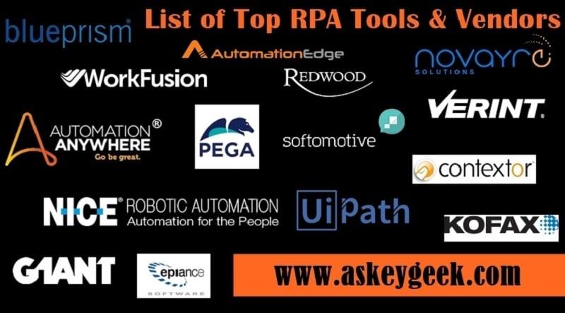 rpa tools list