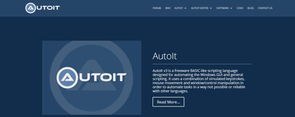 AutoIt Free RPA Tool